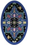 rug #1281447 | oval black traditional rug