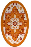 rug #1281459 | oval orange damask rug