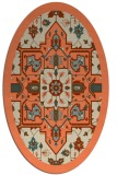 rug #1281463 | oval orange borders rug