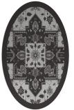 rug #1281467 | oval orange damask rug