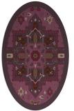 rug #1281487   oval purple borders rug