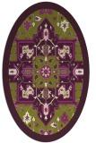 rug #1281491 | oval green borders rug