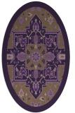 rug #1281495 | oval mid-brown borders rug