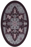 rug #1281499 | oval purple damask rug