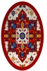 rug #1281503 | oval red traditional rug