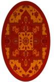 rug #1281507 | oval orange borders rug