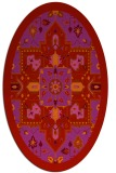 rug #1281515 | oval red traditional rug