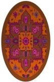 rug #1281527   oval red-orange borders rug
