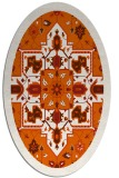 rug #1281531   oval red-orange borders rug