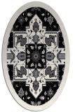 rug #1281535 | oval white traditional rug