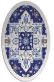rug #1281543 | oval white borders rug