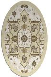 rug #1281567 | oval white damask rug