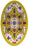rug #1281571 | oval white borders rug