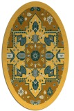 rug #1281575 | oval yellow traditional rug