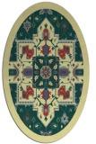 rug #1281579 | oval borders rug