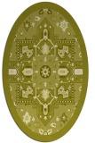 rug #1281585 | oval damask rug