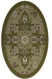 rug #1281595 | oval light-green rug