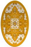 rug #1281599 | oval light-orange damask rug