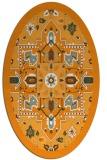 rug #1281603 | oval light-orange borders rug