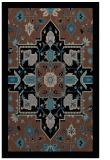 rug #1281627 |  brown borders rug