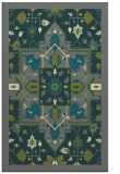rug #1281743 |  blue-green damask rug