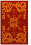 rug #1281875    orange damask rug