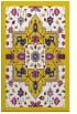 rug #1281939 |  yellow damask rug