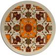 rug #1281979 | round beige borders rug