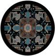 rug #1281995 | round brown damask rug