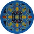 rug #1282011 | round blue borders rug