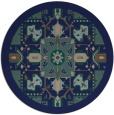 rug #1282019 | round blue traditional rug