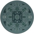 rug #1282051 | round blue-green traditional rug