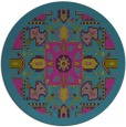 rug #1282059 | round pink traditional rug