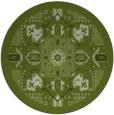 rug #1282107 | round green damask rug