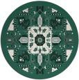 rug #1282115 | round green damask rug