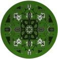 rug #1282123 | round light-green damask rug