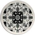 rug #1282127 | round black borders rug