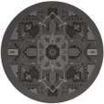 rug #1282135 | round mid-brown damask rug