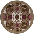 rug #1282139 | round beige borders rug