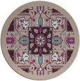 rug #1282147 | round pink traditional rug