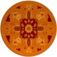 rug #1282191 | round orange borders rug