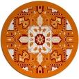 rug #1282195   round orange popular rug
