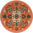 rug #1282199 | round orange borders rug