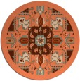 rug #1282203 | round orange borders rug