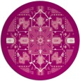 rug #1282207 | round pink traditional rug