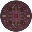 rug #1282223 | round purple traditional rug