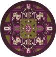 rug #1282227   round purple borders rug