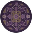 rug #1282231 | round purple damask rug