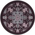 rug #1282235 | round purple damask rug