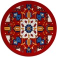 rug #1282239 | round red traditional rug